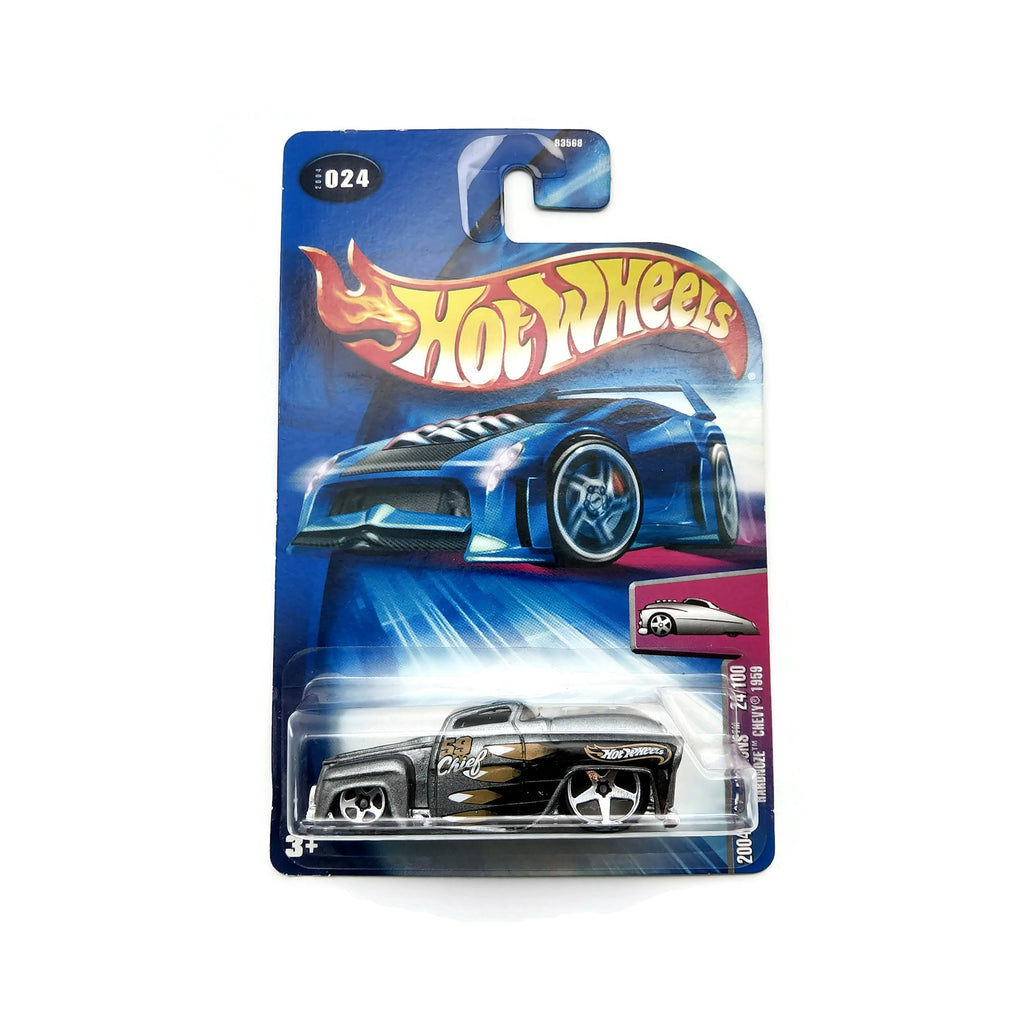 Hot Wheels 2004 First Editions, Hardnoze Chevy 1959, #024, 24/100 Silver, NEW
