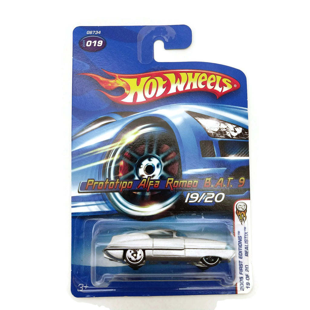 Hot Wheels 2005 First Editions, Prototipo Alpha Romeo 19/20 #019, Silver, NEW