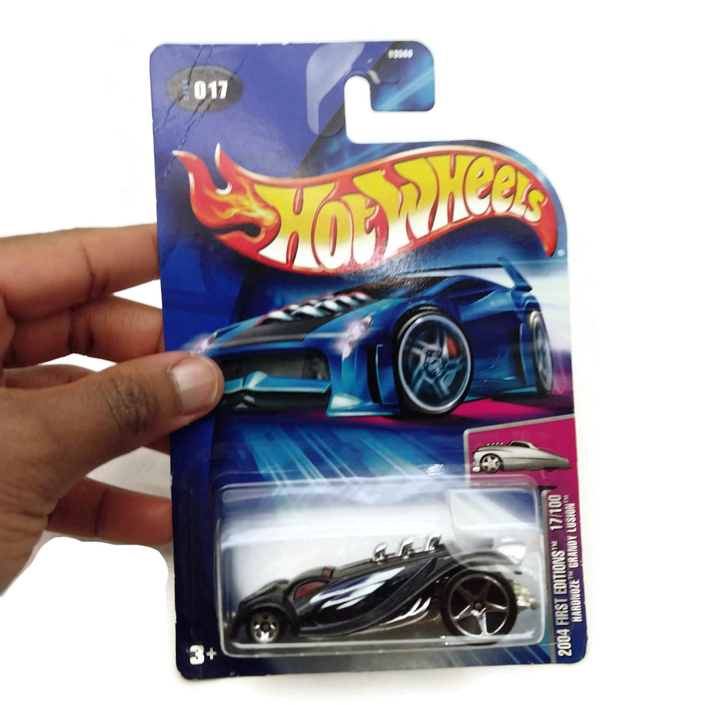Hot Wheels 2004 First Editions, Harnoze Grandy Lusion #017 17/100, Black, NEW