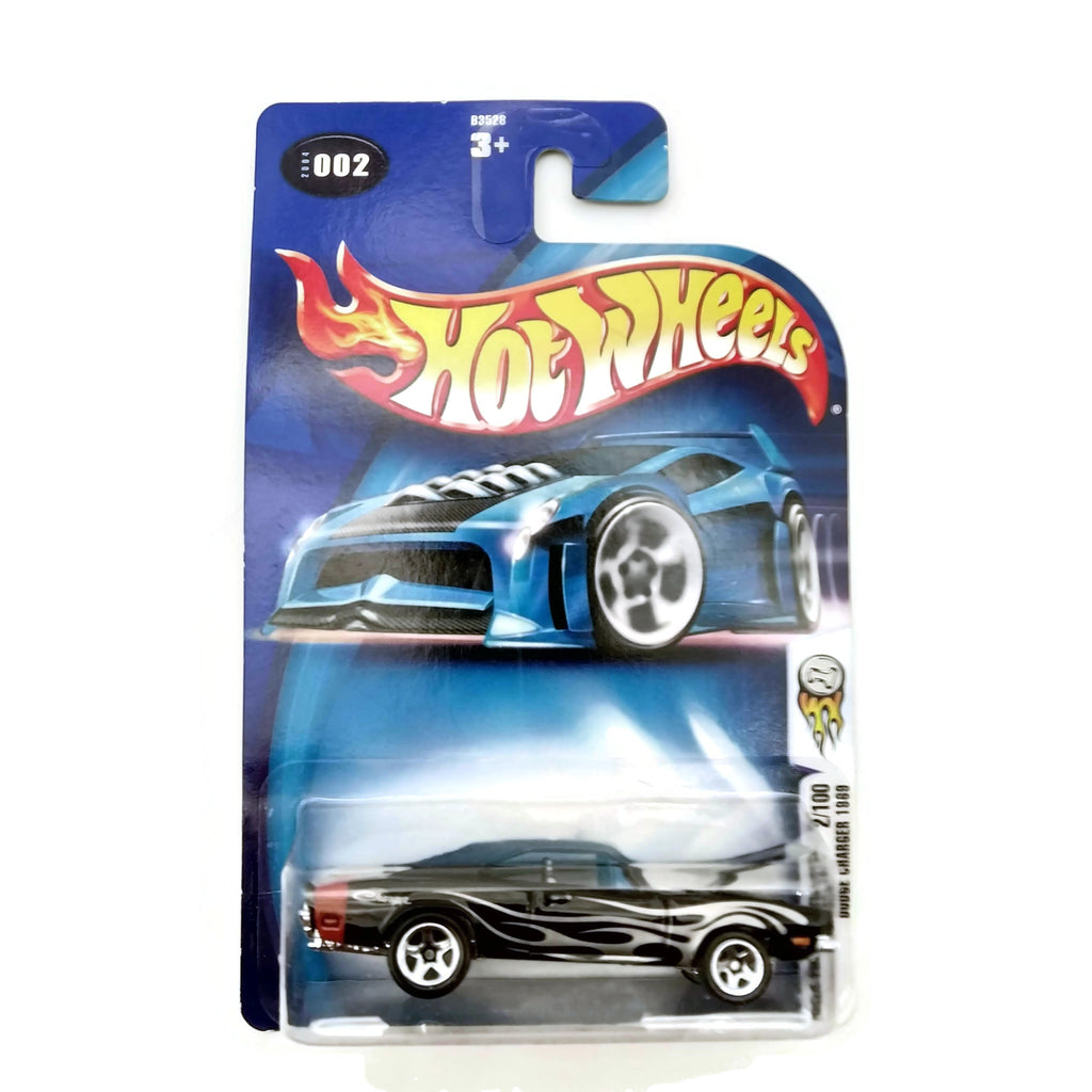 Hot Wheels 2004 First Editions, Dodge Charger 1969 #002 2/100, Black, NEW