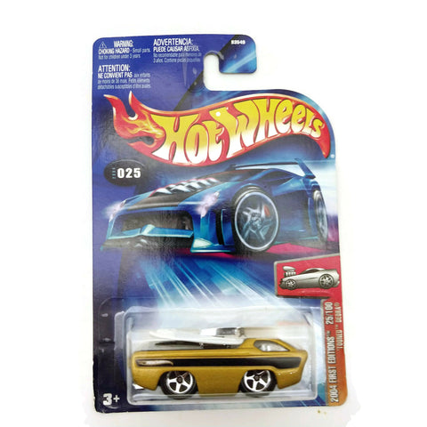 Hot Wheels 2004 First Editions, Tooned Deora #025 25/100, Yellow, NEW