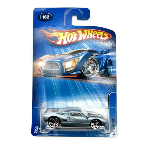 Hot Wheels Ford GT-40 #162, Blue and Orange, NEW