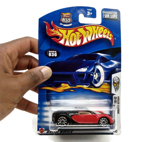Hot Wheels 2003 1st Editions 18/42 Bugatti Veyron #030 Black/ Red Collectible