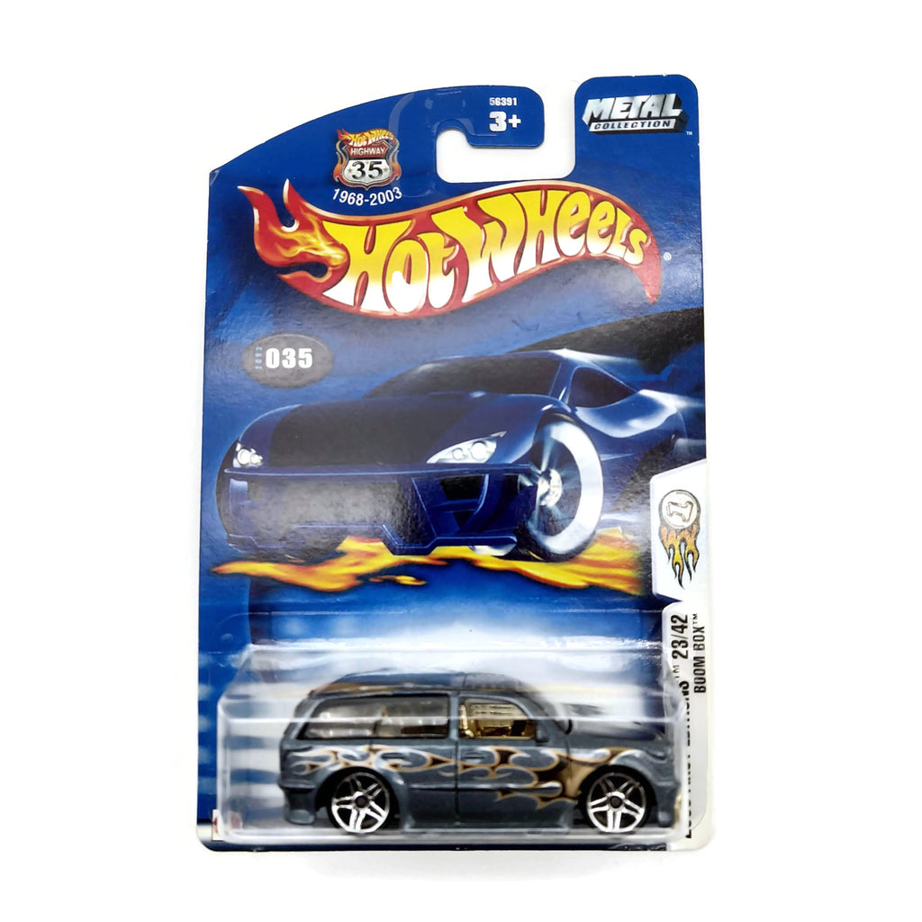 Hot Wheels 2003 First Editions 23/42 Boom Box #035, Blue, NEW