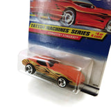 Hot Wheels Corvette Stingray Tatto Machines Series #4, Orange, NEW