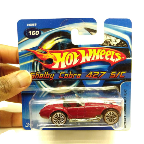 Hot Wheels Cars Shelby Cobra 427 S/C #160, Red, NEW