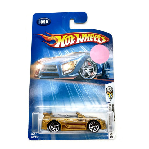 Hot Wheels Cars 2004 First Editions 90/100 Mitsubishi Ecilpse, #090, Gold, NEW