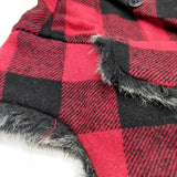 Bomber Trapper Aviator Hat with Earflaps Unisex Red / Black