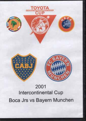 Intercontinental Cup Boca Juniors vs Bayern Munchen 2001 DVD