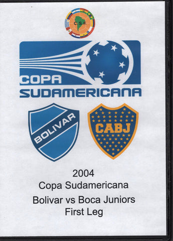 Copa Sudamericana Bolivar vs Boca Juniors First Leg 2004 DVD