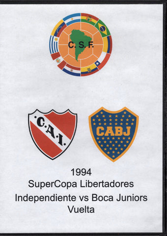 SuperCopa Libertadores Independiente vs Boca Juniors Vuelta 1994 DVD