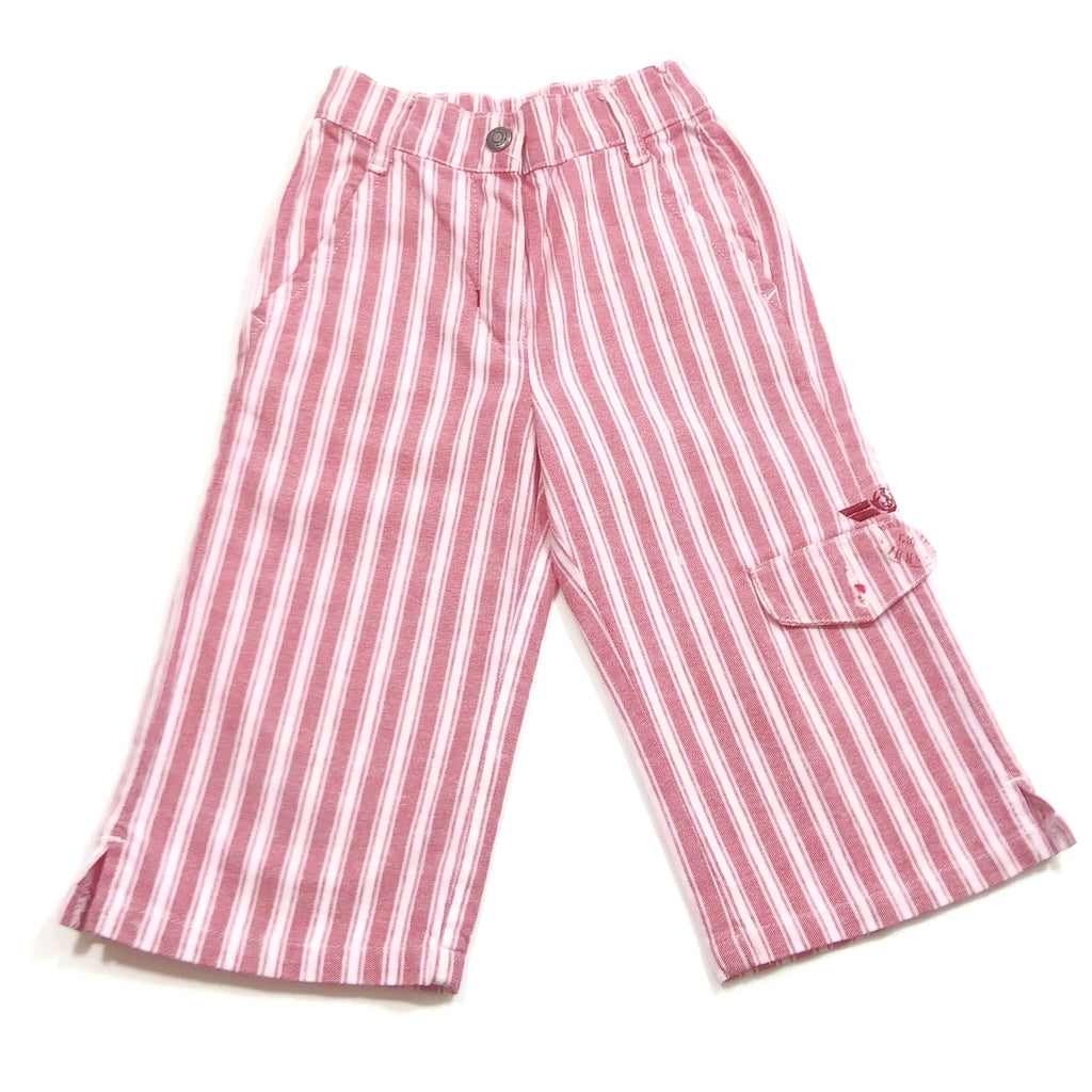 IKKS Girls Fashion Pink & White Striped Pants Size 4