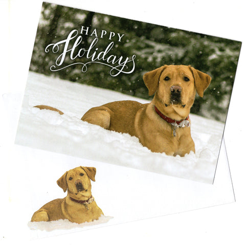 Happy Holidays Pets Dogs Lover Christmas Blessings Holiday Seasons Greeting Card