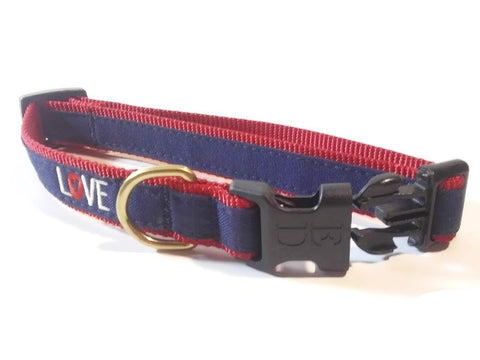 ED Ellen DeGeneres adjustable LOVE dog collar - NEW !