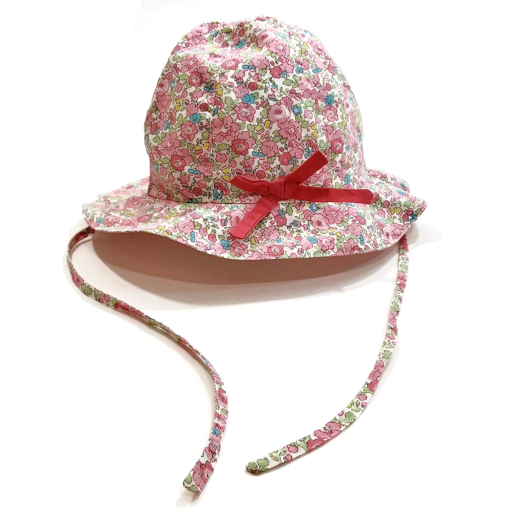 Jacadi Paris Floral Toddler Girl Summer Hat With Little Bow 12 Months