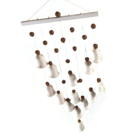 Handmade Ceramic Wind Chimes Wind Bells Garden Chime Hanging Bell Deco NEW