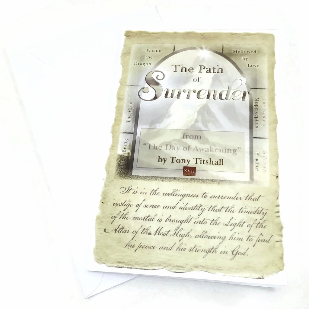 """The Path of Surrender""  By Tony Titshall Greeting Card"