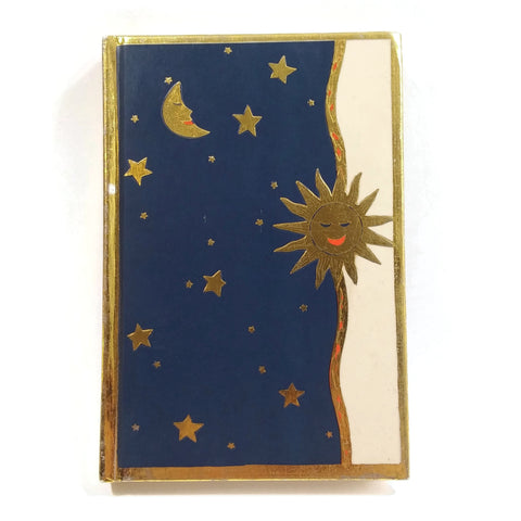 ABC Personal Phone and Address Book Moon Stars & Sun