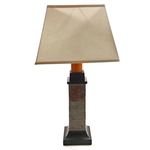 Torch Light ST913B Wireless Wicker Table Lamp Natural Slate