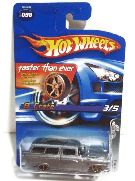 Hot wheels : 2006 First Edition : 8 Crate - Faster than ever  - 3 Of 5. Gray