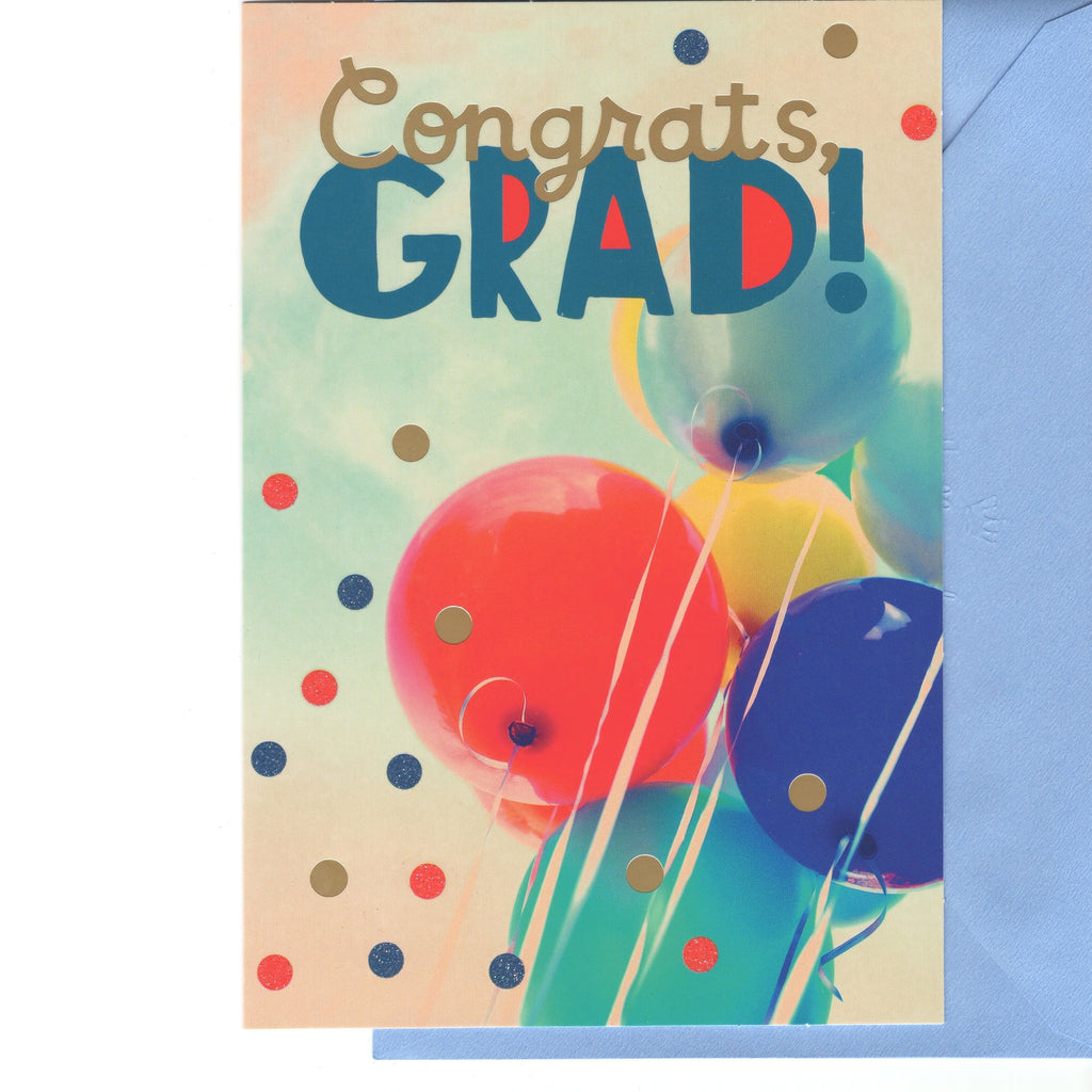 Graduation Greeting Card Balloons With Envelop