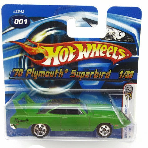 Hot wheels car, 2006 First Edition : '70 Plymouth Superbird 1 Of 38. Green