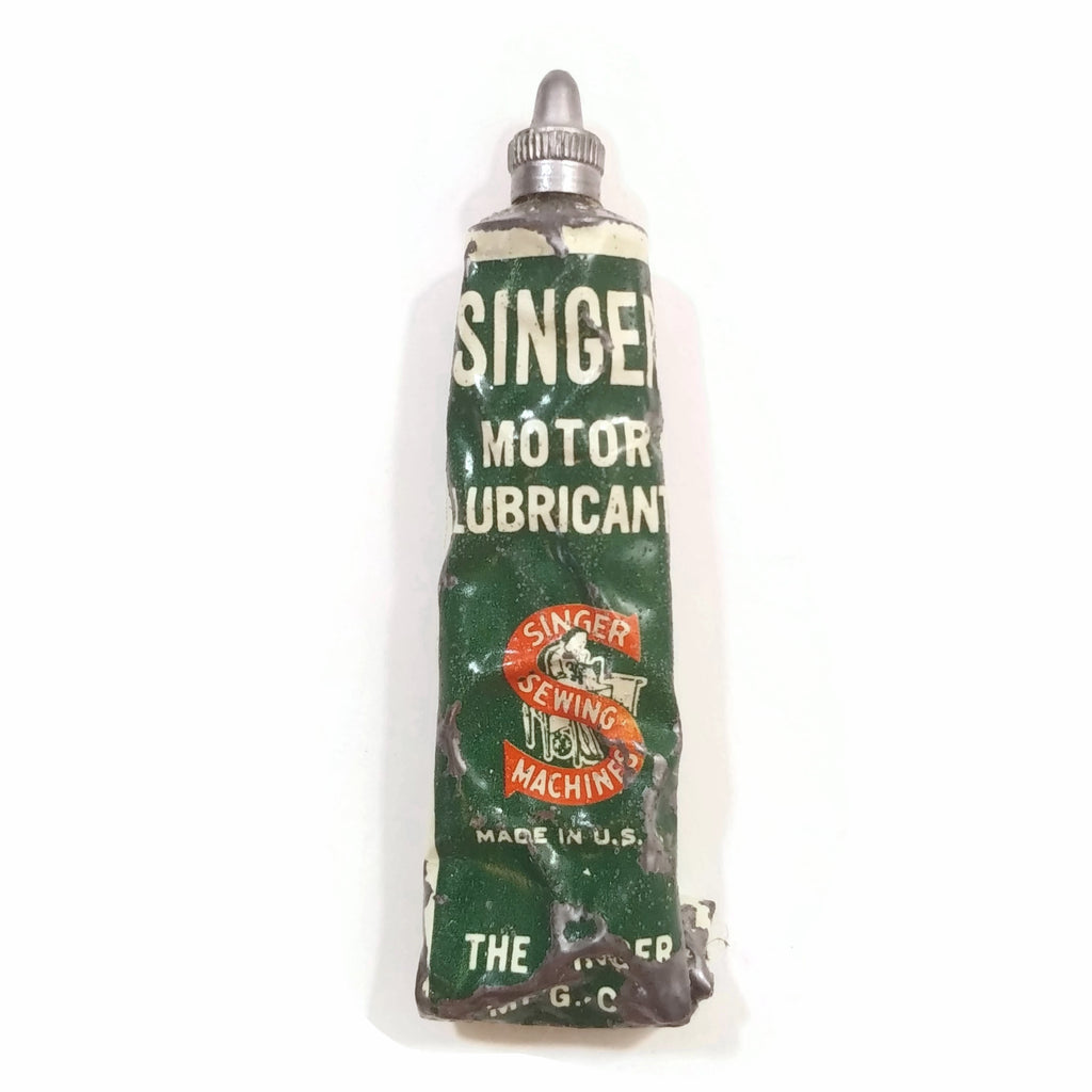 Vintage SINGER Motor Lubricant Tube Made in USA