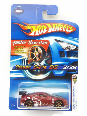 Hot wheels 2006 First Edition : Nissan SilVia 515 -  3 Of 38. Red