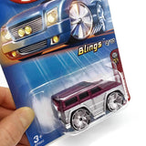 Hot Wheels 2005 First Editions, Mercedes-Benz G500, Blings 4/10 #034, Gray/Purpl