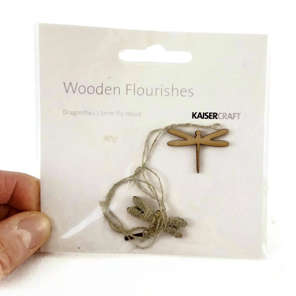 Kaiser Craft Wooden Flourishes, Dragonflies / 2 mm Ply Wood - NEW