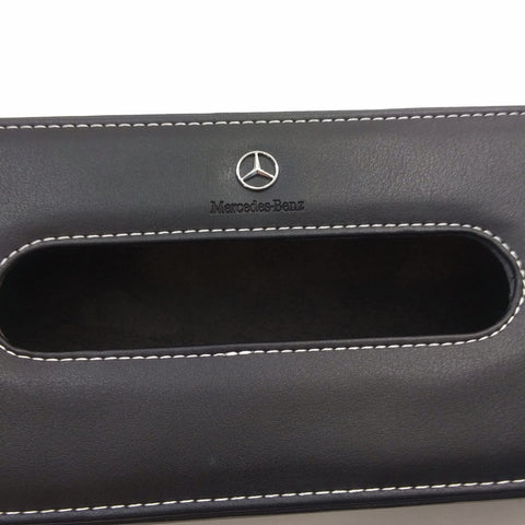 Mercedes Leather Car Tissue Box Cover Napkin Paper Holder Dispenser