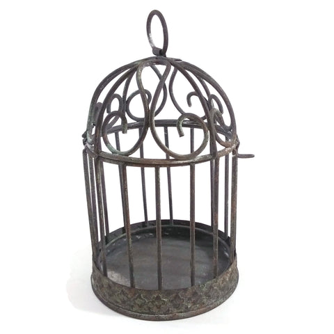 Vintage Rustic Metal Classic Decorative Bird House Cage 5.5""
