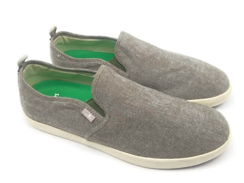 Sanuk Men's Range TX Slip On, Light Gray, Size 10.5