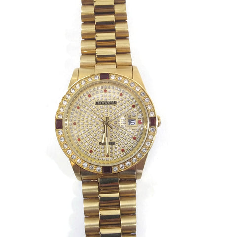 Unisex Gold Tone Stainless Steel Watch
