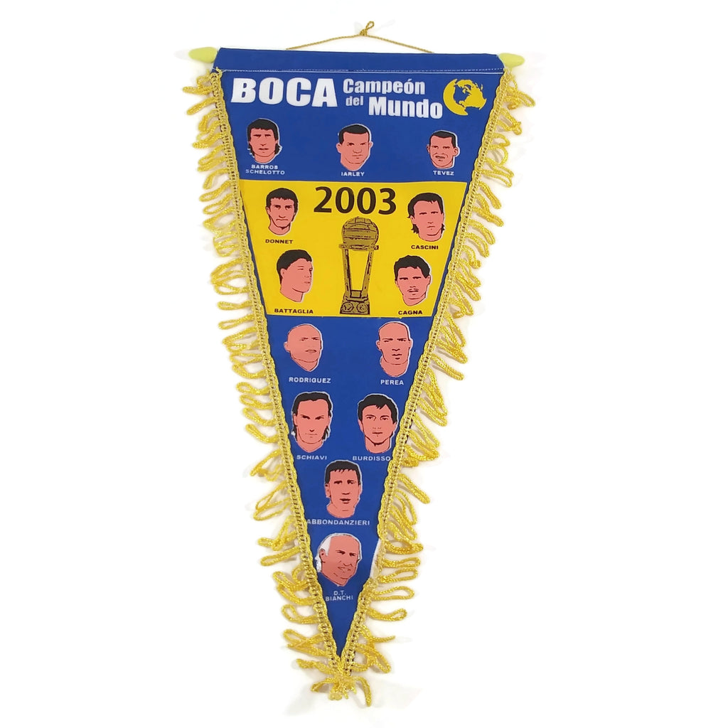 Boca Juniors Pennant Boca - Campeon del Mundo 2003 World Champion