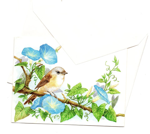 Happy Birthday Greeting Birds Art Painting Birthday Greeting Card
