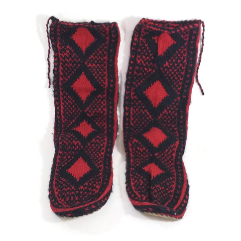Women Crochet Knit Wool Slipper Boots Handmade House Shoes Indoor Booties