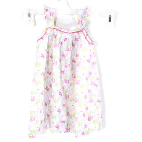 PETIT BATEAU 24 Months /86 cm Girls' Flowery Summer Sleeveless Dress
