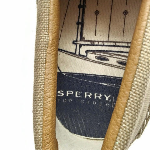 Men's Shoes, SPERRY TOP-SIDER Beige, Casual Boat, Size 10M