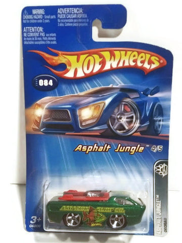 Hot wheels : 2006 First Edition : Asphalt Jungle - 4 Of 5. Green