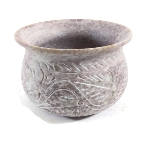 Soapstone Decorative Smudging Bowl Pot Incense Resin Burner India Handmade
