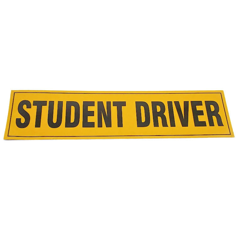 "Zone Tech ""Student Driver"" Vehicle Bumper Magnet"