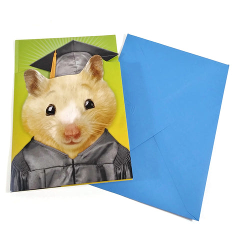 Musical Pop-Up Graduation Greeting Card with envelop, 3D