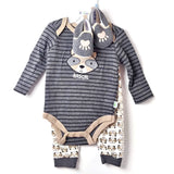 Baby Boy Outfit, 6-9 Month 3Pc W/Shoes, Duck Duck Goose - NEW