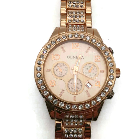 Unisex Watch Rose Gold Tone Wrist Band