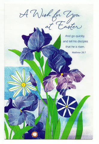 A Wish for You at Easter Day Vintage Spring Time Greeting Card Holiday Gift