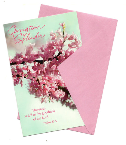 Spring Time Splendor Easter Wishes Vintage Greeting Card