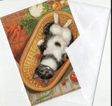 Sweet Cat Curled up Up Cat Collection Blank Art Greeting Cards for Any Occasion