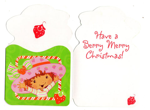Strawberry Shortcake Berry Merry Christmas Picture Frame Holiday Season Greeting