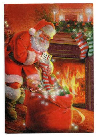 Santa Claus Christmas Gifts Holidays Wishes Greeting Card